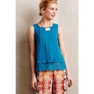 Anthropologie HD Paris Vanda teal tank